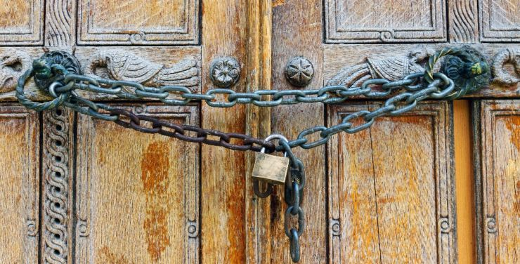 Image result for locked church door